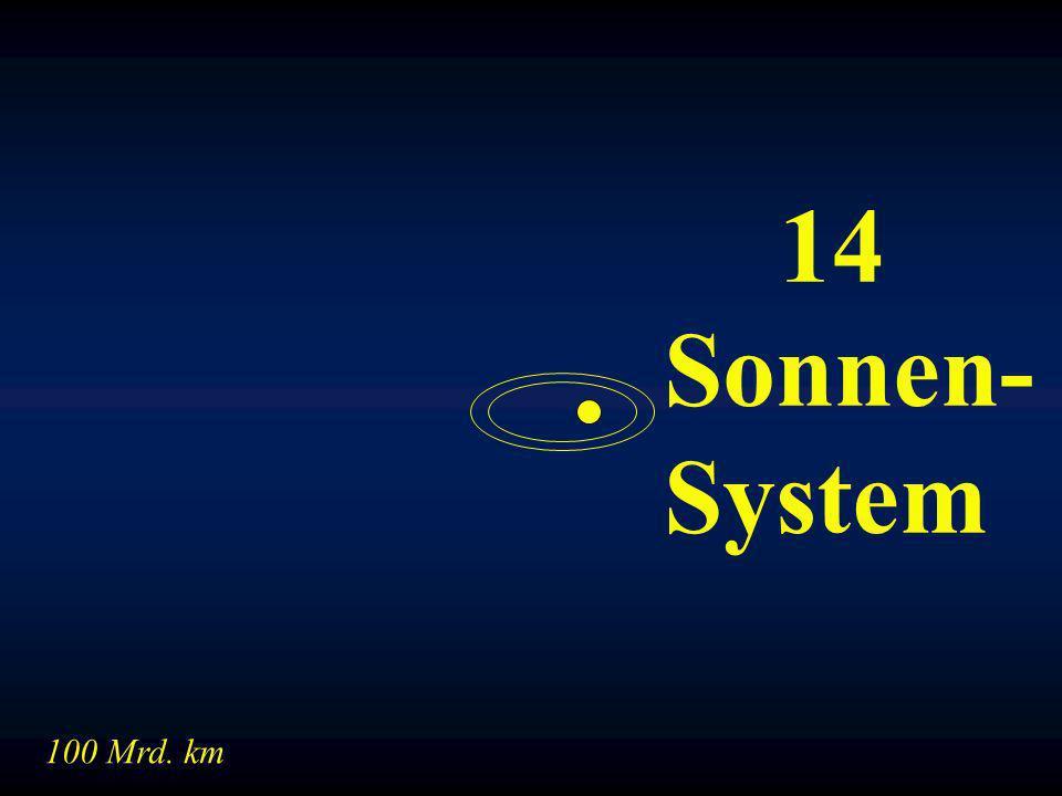 14 Sonnen- System 100 Mrd. km