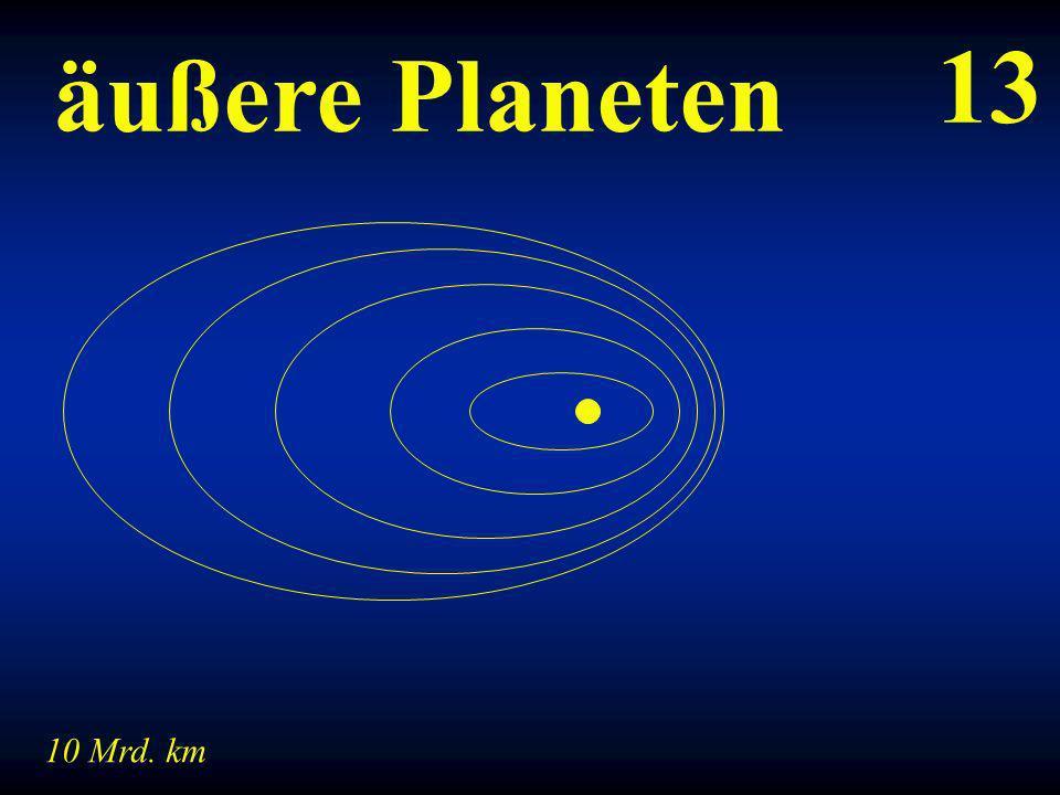 13 äußere Planeten 10 Mrd. km