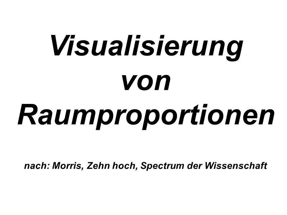 Visualisierung von Raumproportionen nach: Morris, Zehn hoch, Spectrum der Wissenschaft