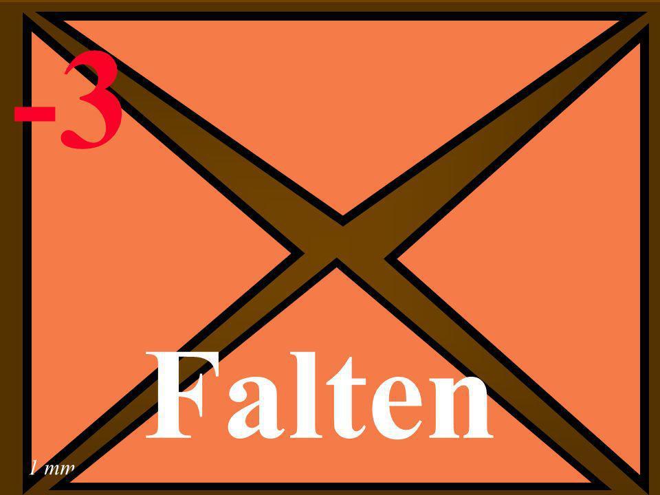 1 mm -3 Falten