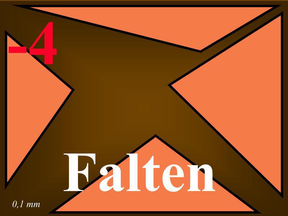 0,1 mm -4 Falten