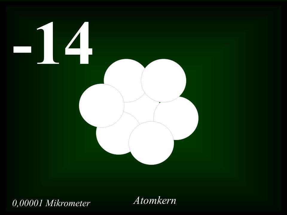 0,00001 Mikrometer -14 Atomkern
