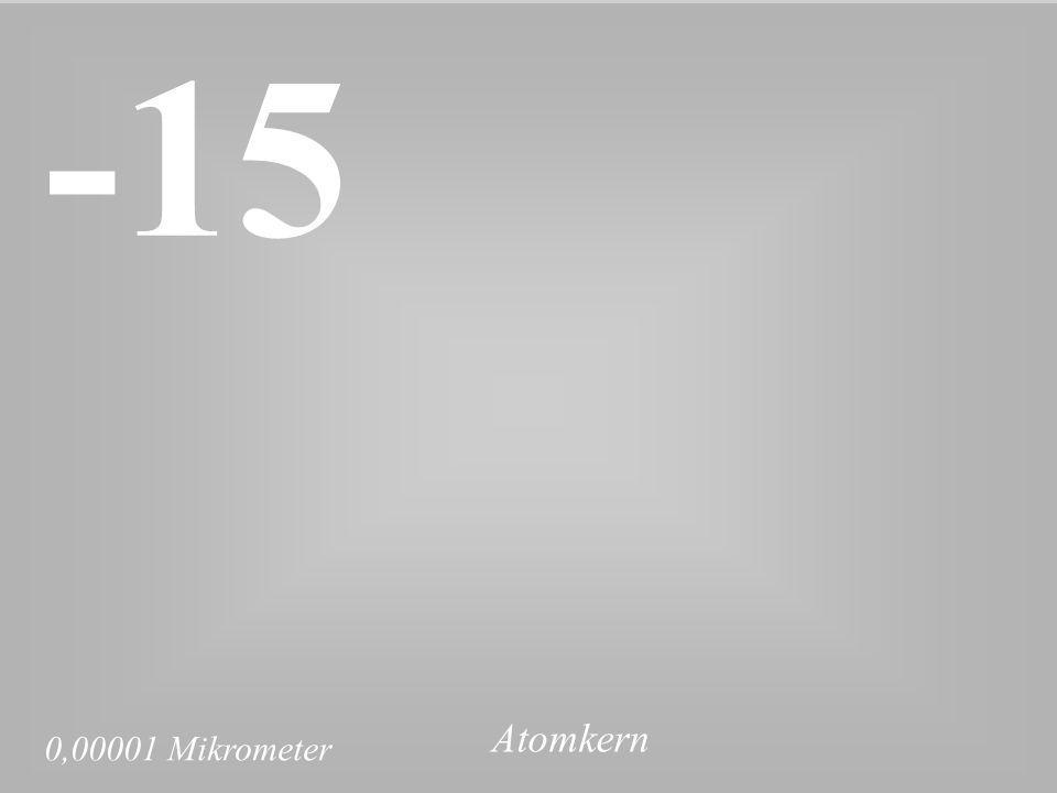 0,00001 Mikrometer -15 Atomkern