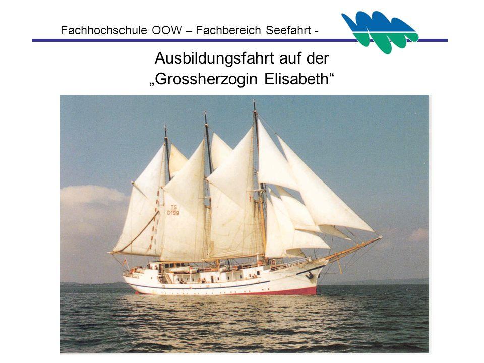Ausbildungsfahrt auf der Grossherzogin Elisabeth