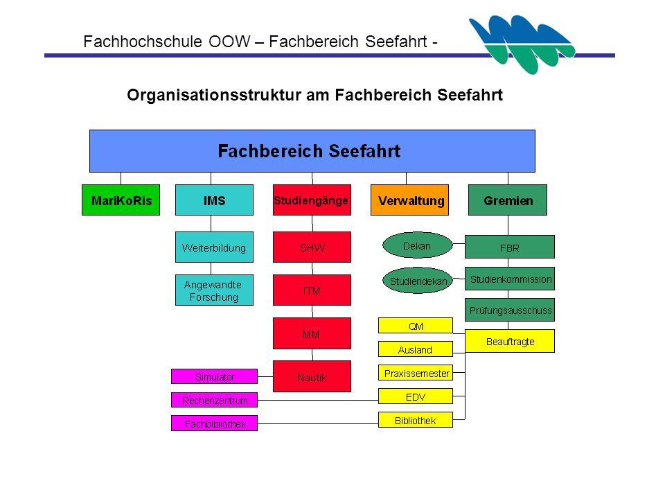 Fachhochschule OOW – Fachbereich Seefahrt - Organisationsstruktur am Fachbereich Seefahrt