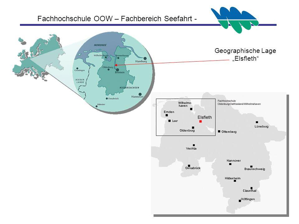 Fachhochschule OOW – Fachbereich Seefahrt - Geographische Lage Elsfleth