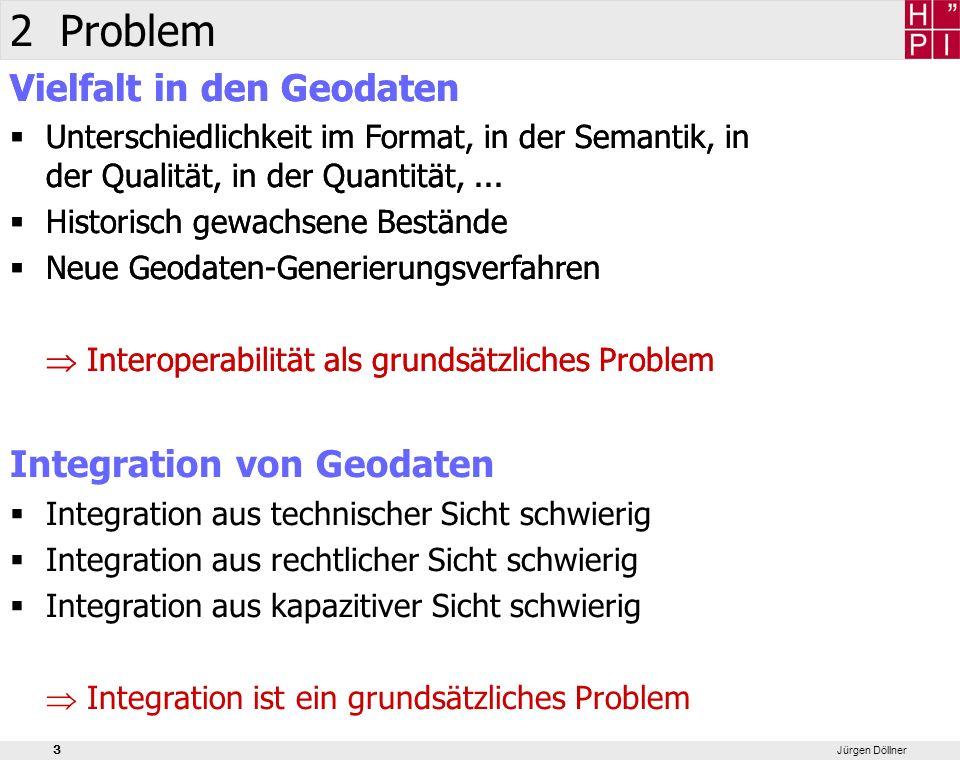 4 Jürgen Döllner 2 Lösungen XML-basierter Standard für 3D-Stadtmodelle Pilot3D-Projekt der Geodateninfrastruktur NRW Konsortium von Senat für Stadtentwicklung, Hasso-Plattner- Institut und der 3D-Geo GmbH Entwicklung eines Autorensystems für 3D-Stadtmodelle LandXplorer 3dcity.xml Geodaten