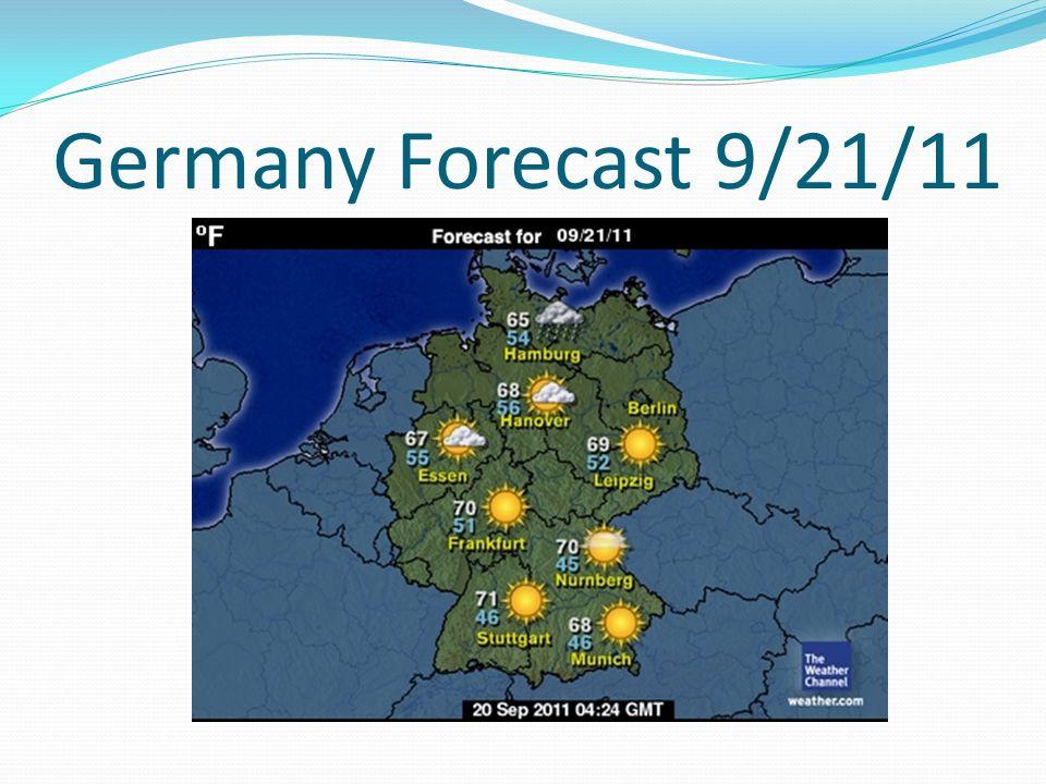Berlin Es ist sonnig und heiter in Berlin. In Berlin es ist nuenundsechzig Grad. (20.5 C)