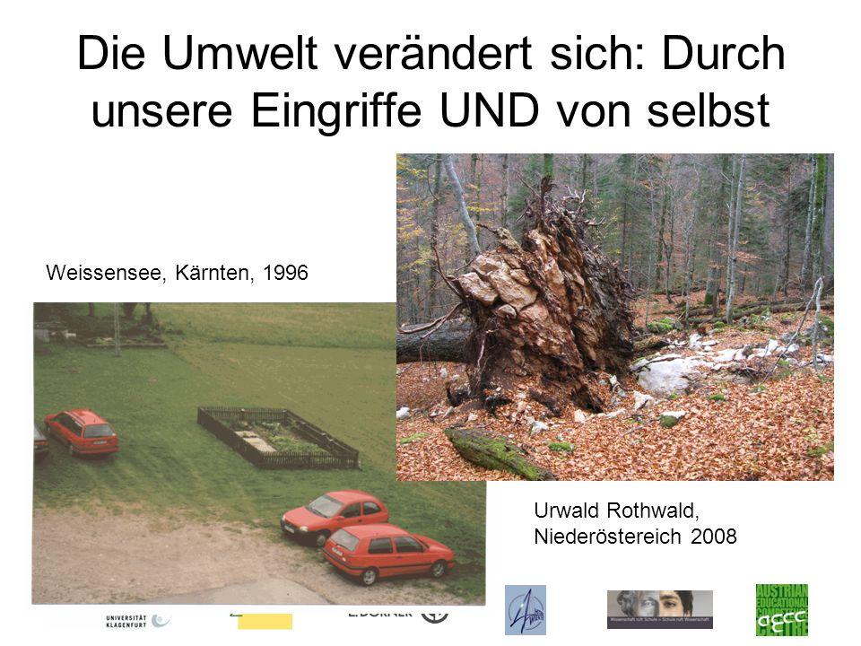 Die Umwelt verändert sich: Durch unsere Eingriffe UND von selbst Weissensee, Kärnten, 1996 Urwald Rothwald, Niederöstereich 2008