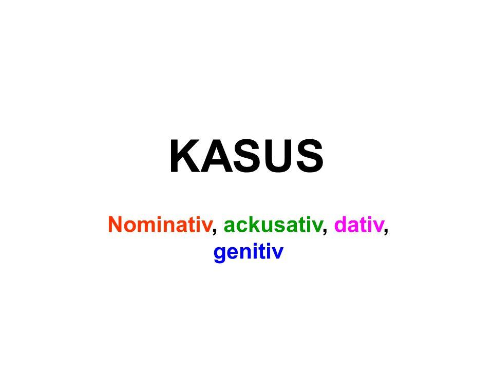 KASUS Nominativ, ackusativ, dativ, genitiv