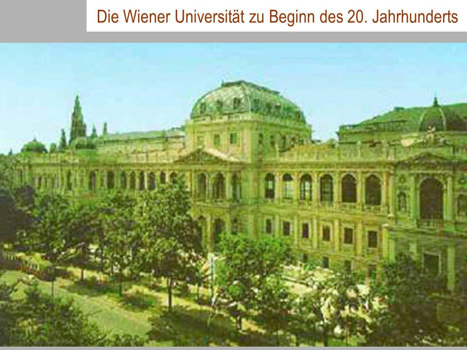 Die Wiener Universität zu Beginn des 20. Jahrhunderts