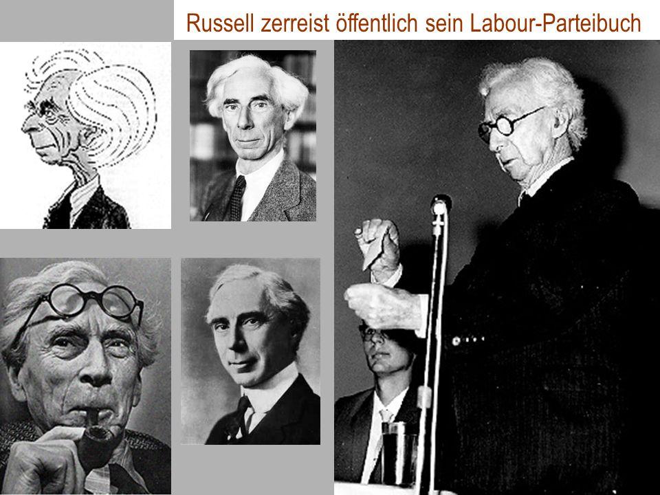 Russell zerreist öffentlich sein Labour-Parteibuch
