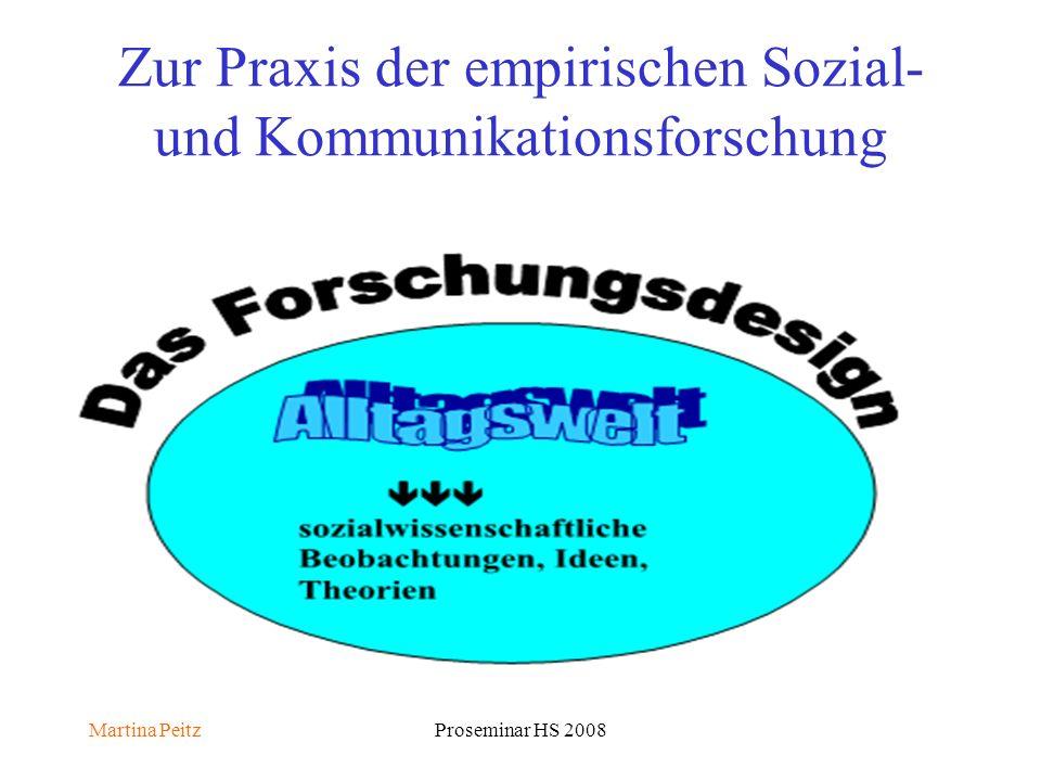 Martina PeitzProseminar HS 2008 Zur Praxis der empirischen Sozial- und Kommunikationsforschung
