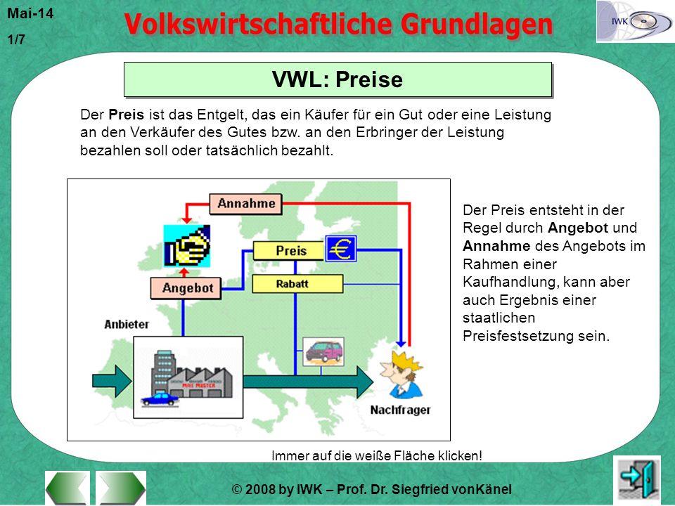 © 2008 by IWK – Prof.Dr. Siegfried vonKänel Mai-14 1/7 Immer auf die weiße Fläche klicken.