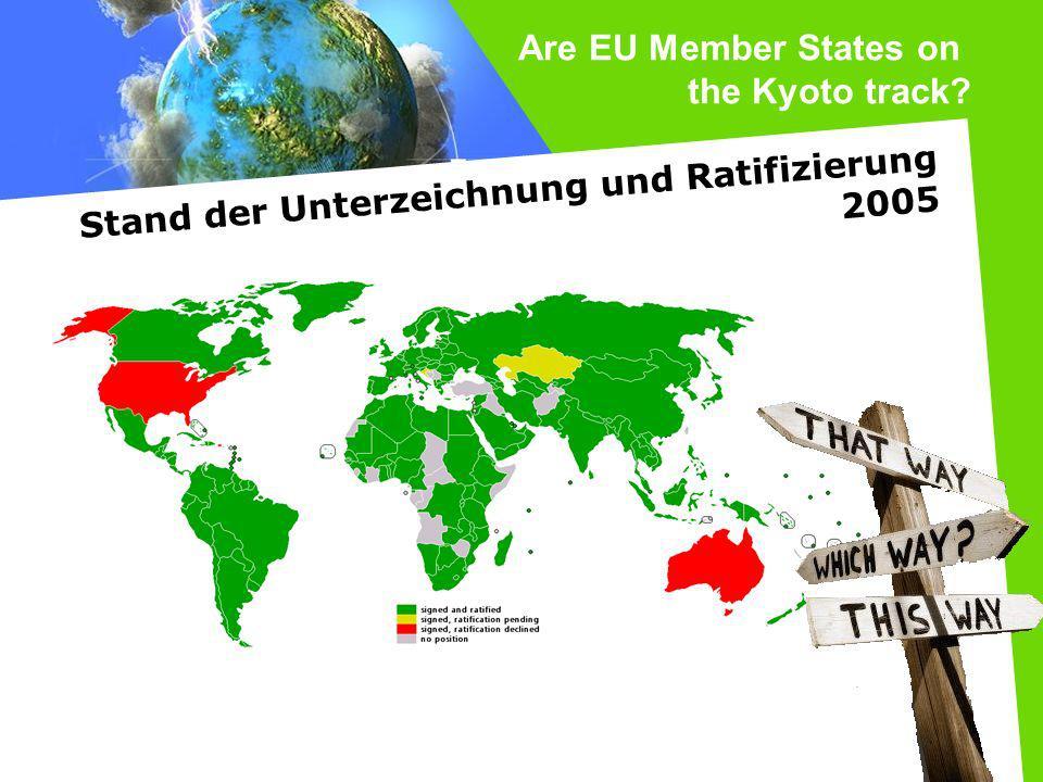 Are EU Member States on the Kyoto track? Stand der Unterzeichnung und Ratifizierung 2005