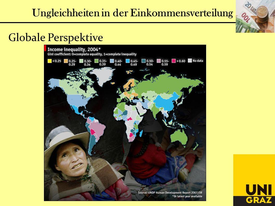 Globale Perspektive Ungleichheiten in der Einkommensverteilung