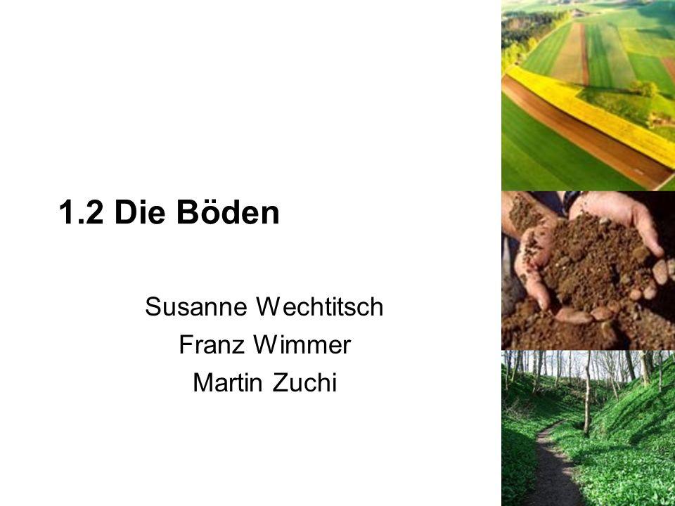 1.2 Die Böden Susanne Wechtitsch Franz Wimmer Martin Zuchi