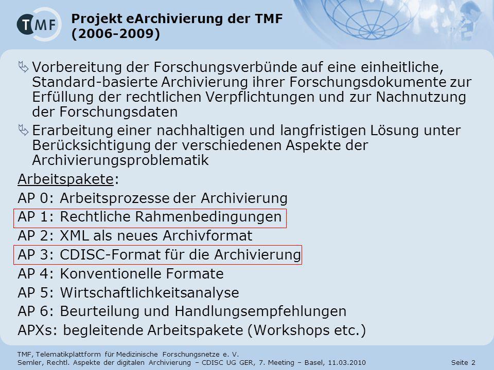 TMF, Telematikplattform für Medizinische Forschungsnetze e.