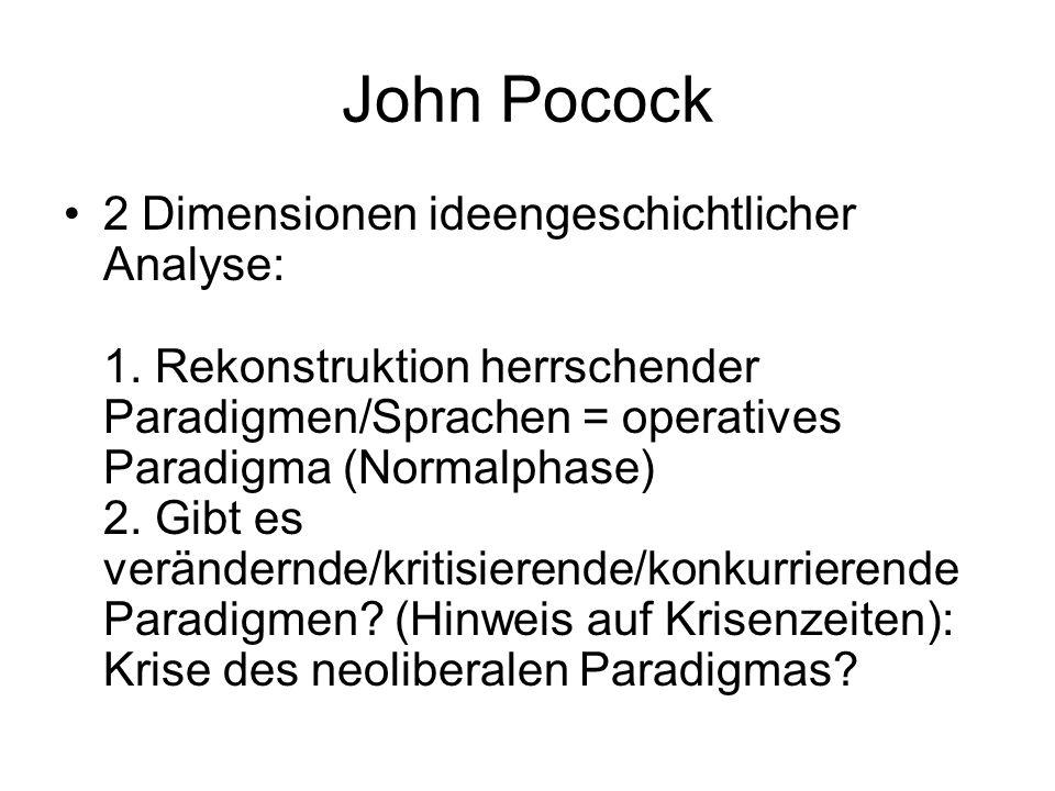 John Pocock 2 Dimensionen ideengeschichtlicher Analyse: 1.