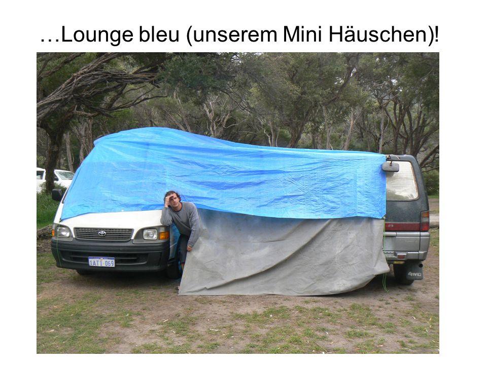 …Lounge bleu (unserem Mini Häuschen)!