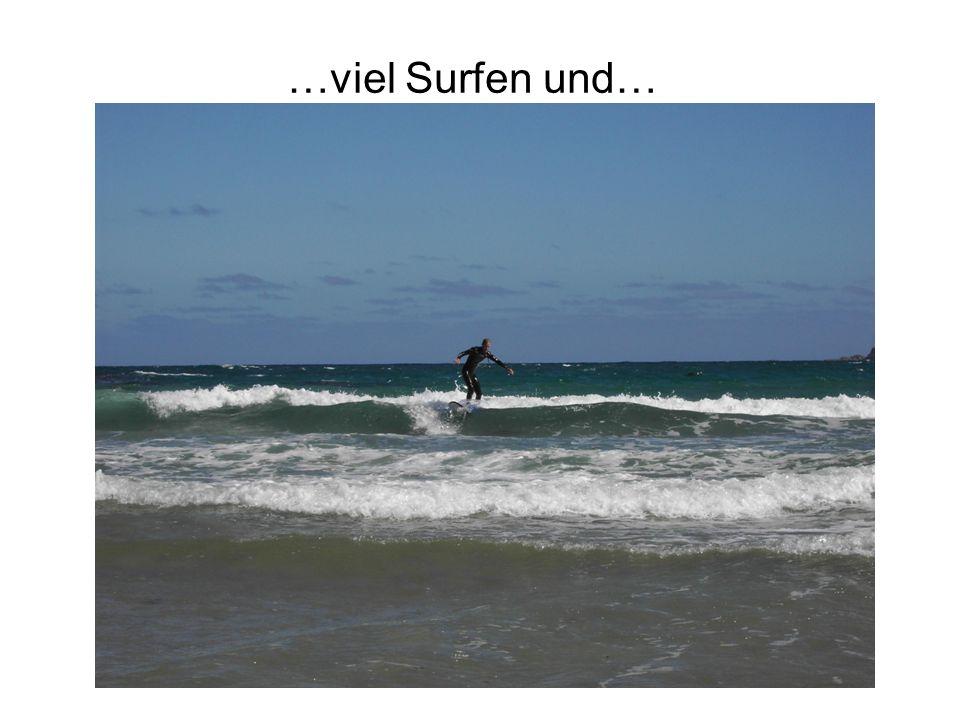 …viel Surfen und…
