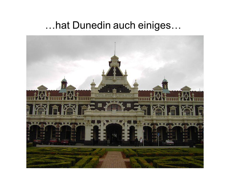 …hat Dunedin auch einiges…
