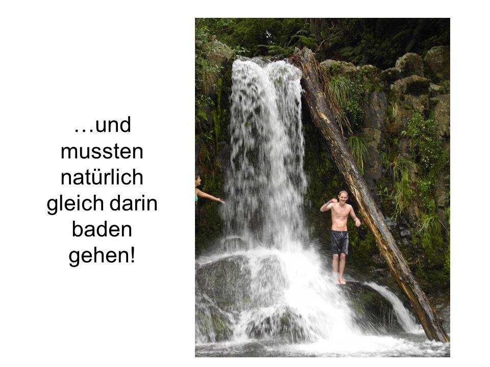 …und mussten natürlich gleich darin baden gehen!