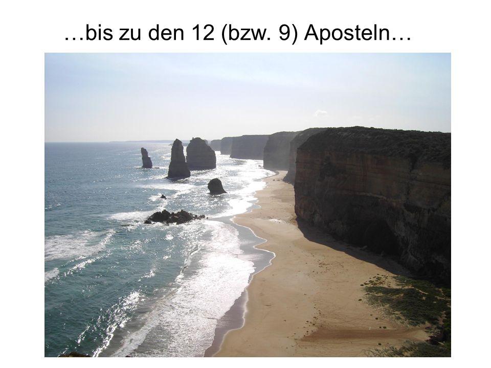 …bis zu den 12 (bzw. 9) Aposteln…