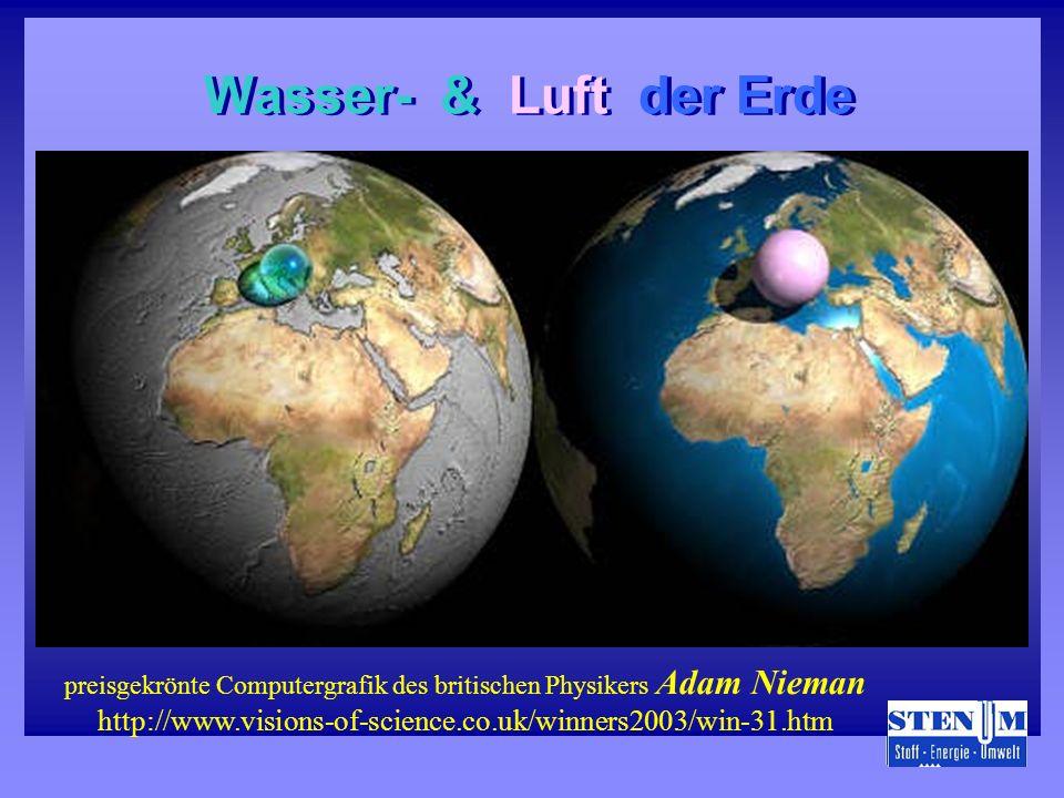 Wasser- & Luft der Erde Wasser- & Luft der Erde preisgekrönte Computergrafik des britischen Physikers Adam Nieman http://www.visions-of-science.co.uk/