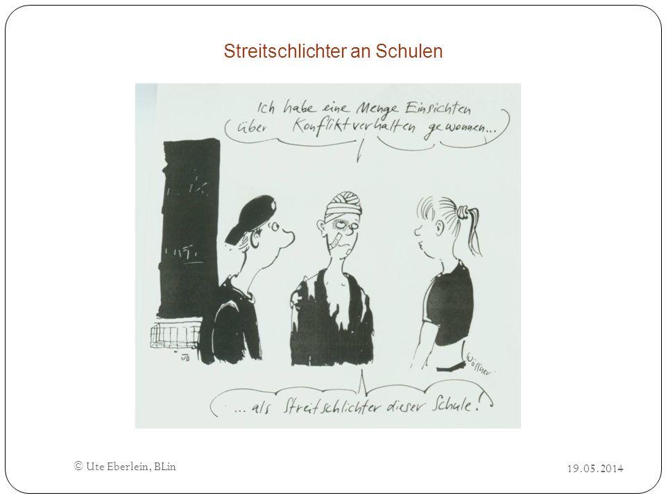 19.05.2014 © Ute Eberlein, BLin Streitschlichter an Schulen
