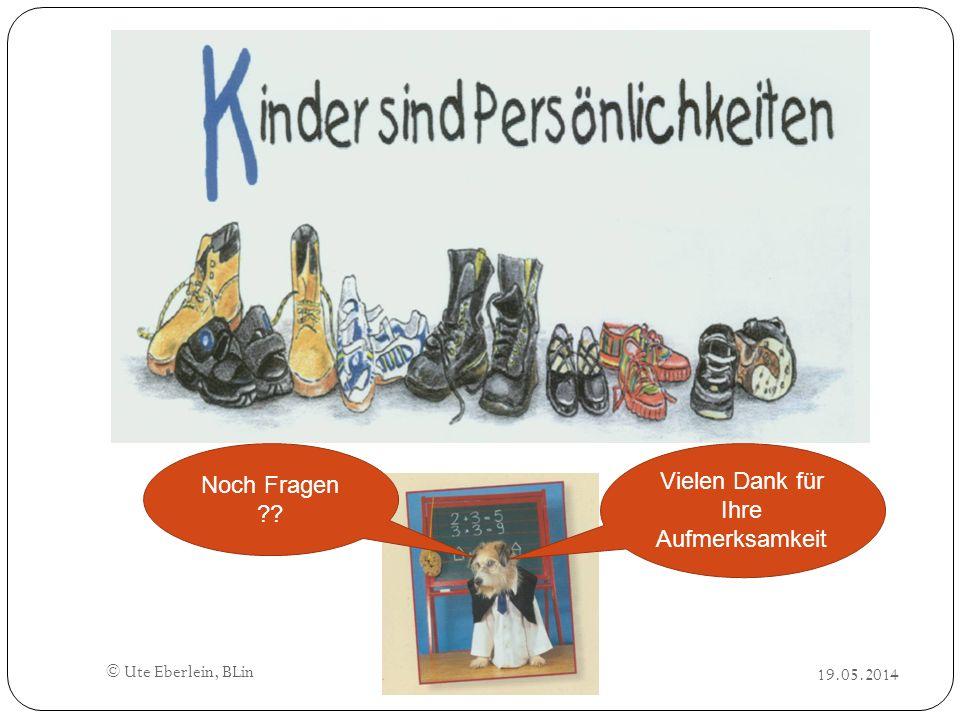 © Ute Eberlein, BLin Noch Fragen ?? Vielen Dank für Ihre Aufmerksamkeit