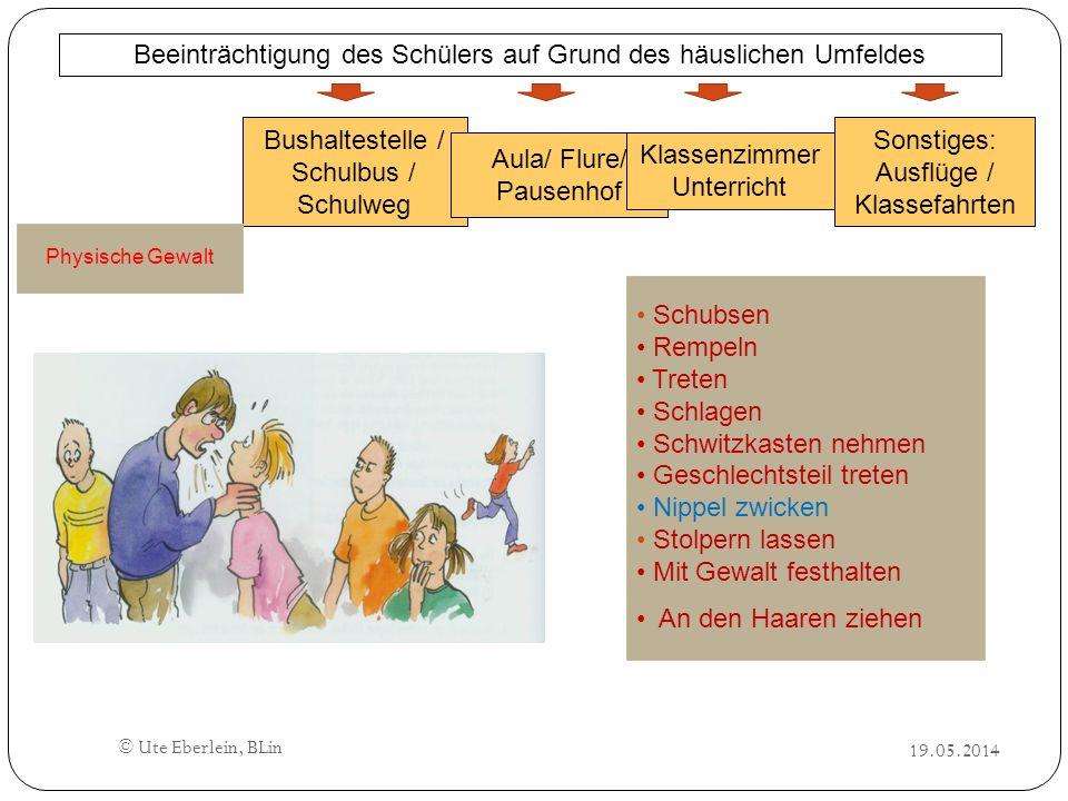 19.05.2014 © Ute Eberlein, BLin Bushaltestelle / Schulbus / Schulweg Aula/ Flure/ Pausenhof Klassenzimmer Unterricht Sonstiges: Ausflüge / Klassefahrt