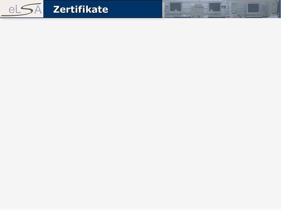 ZertifikateZertifikate