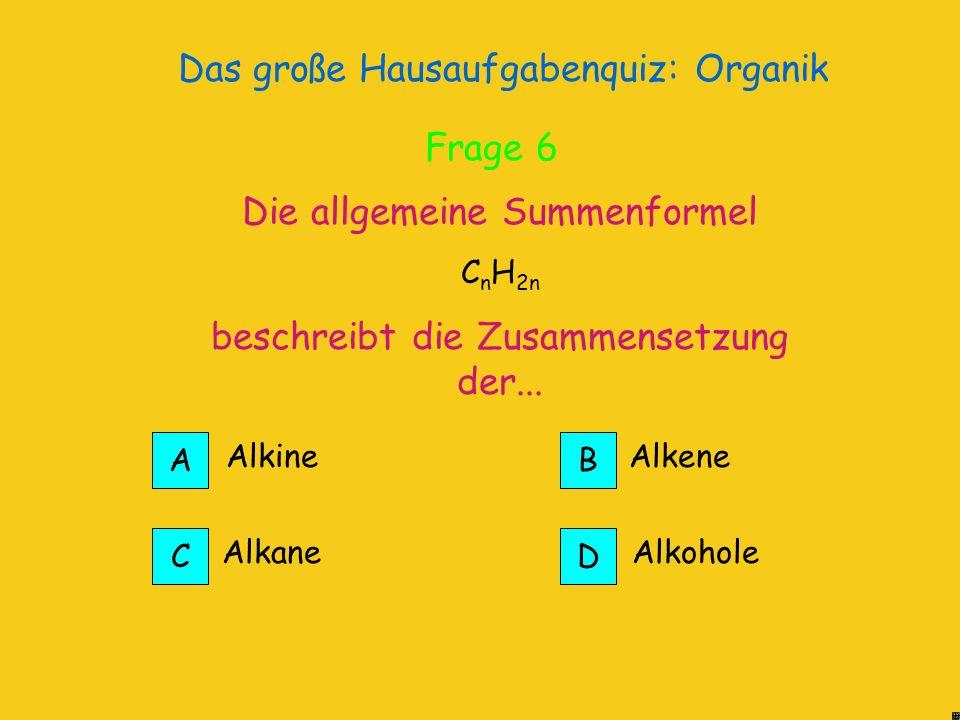 Das große Hausaufgabenquiz: Organik Die längste Kette ist ein Pentan, an dem zwei Methylreste hängen 2,4-Di-Methyl-Pentan Richtig.