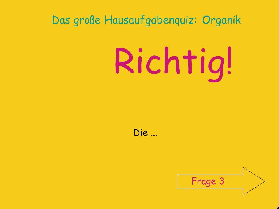 Das große Hausaufgabenquiz: Organik Informiere dich im Chemiebuch (s.