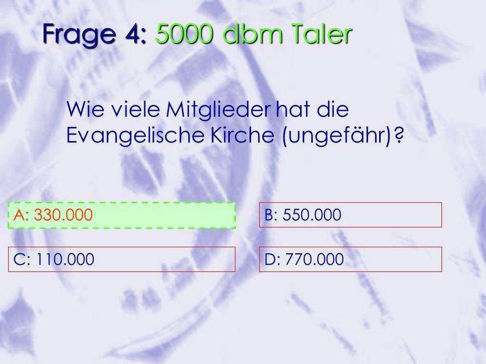 Wie viele Mitglieder hat die Evangelische Kirche (ungefähr).