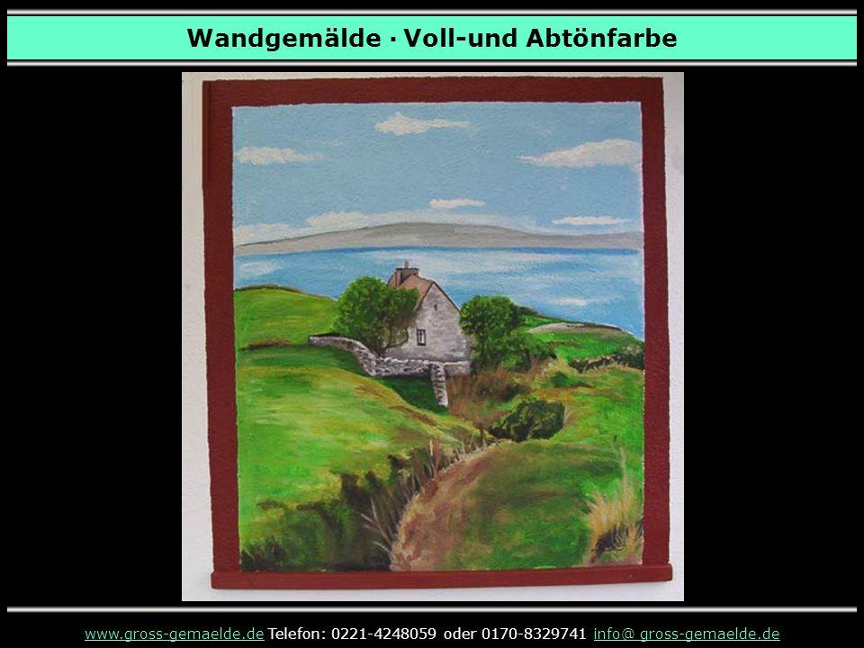 www.gross-gemaelde.de präsentierte Ihnen Wandgemälde im Außenbereich · Voll-und Abtönfarbe ENDE Möchten Sie mehr Wandgemälde sehen.