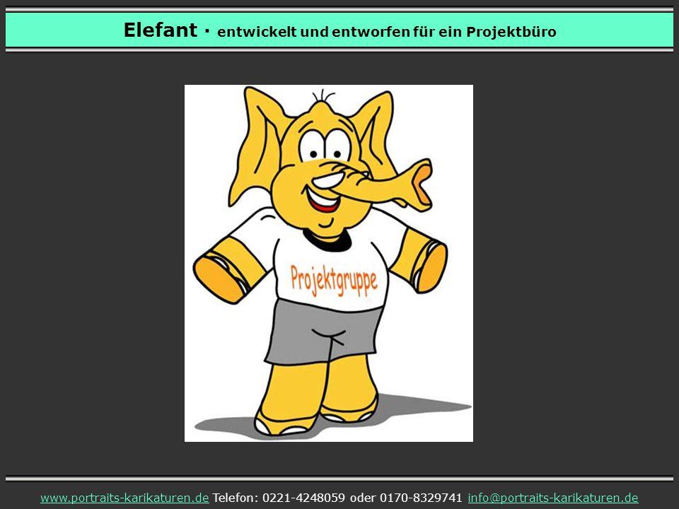 Elefant entwickelt und entworfen für ein Projektbüro www.portraits-karikaturen.dewww.portraits-karikaturen.de Telefon: 0221-4248059 oder 0170-8329741