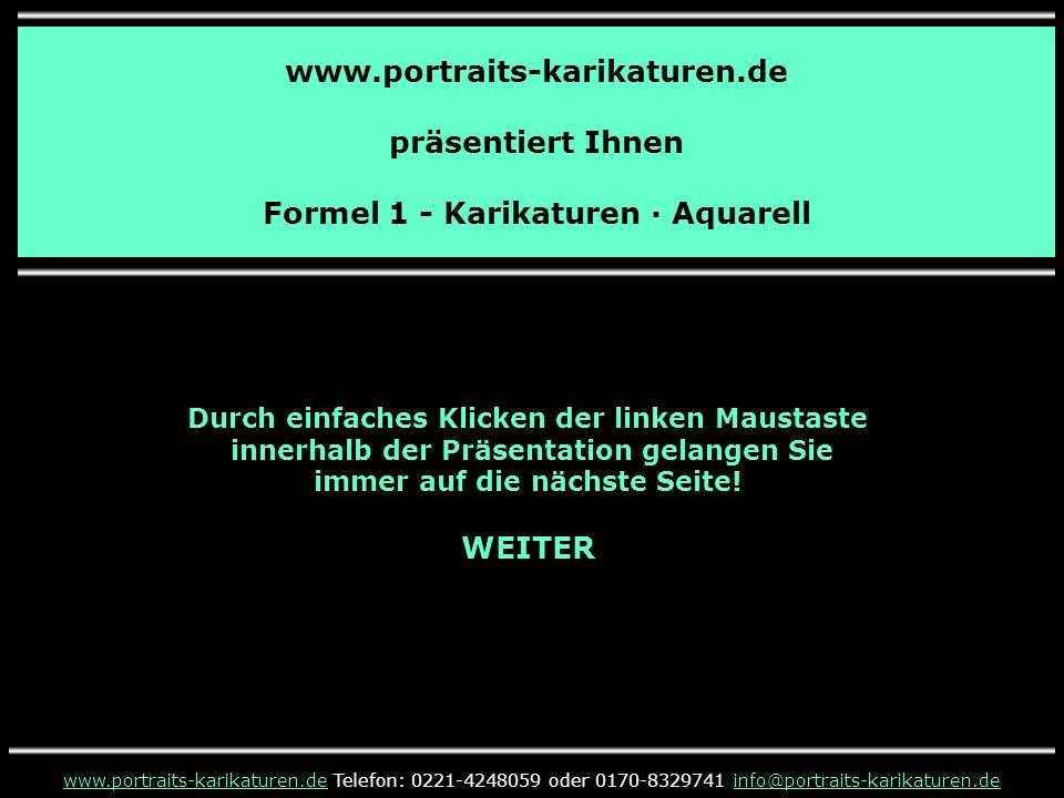 Formel 1 - Karikatur - Mika Häkkinen · Aquarell www.portraits-karikaturen.dewww.portraits-karikaturen.de Telefon: 0221-4248059 oder 0170-8329741 info@portraits-karikaturen.deinfo@portraits-karikaturen.de