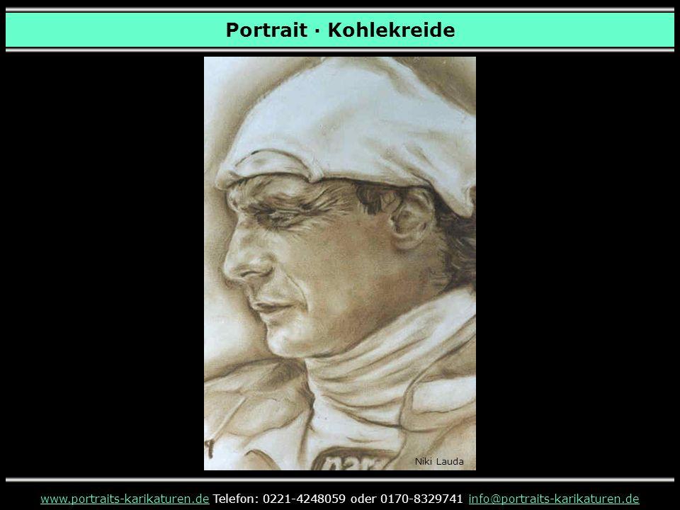 Portrait · Kohlekreide www.portraits-karikaturen.dewww.portraits-karikaturen.de Telefon: 0221-4248059 oder 0170-8329741 info@portraits-karikaturen.deinfo@portraits-karikaturen.de Niki Lauda