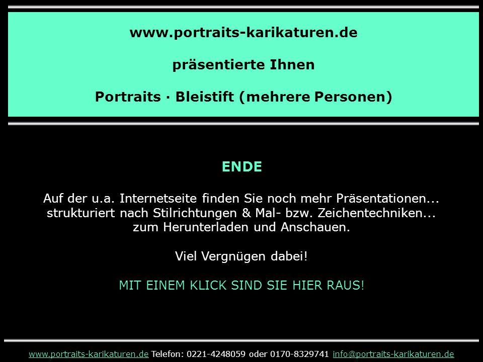 www.portraits-karikaturen.de präsentierte Ihnen Portraits · Bleistift (mehrere Personen) www.portraits-karikaturen.dewww.portraits-karikaturen.de Tele