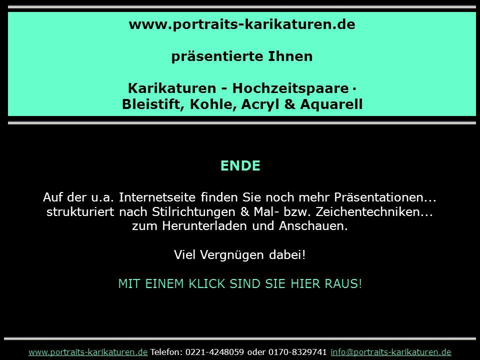 www.portraits-karikaturen.de präsentierte Ihnen Karikaturen - Hochzeitspaare · Bleistift, Kohle, Acryl & Aquarell www.portraits-karikaturen.dewww.port