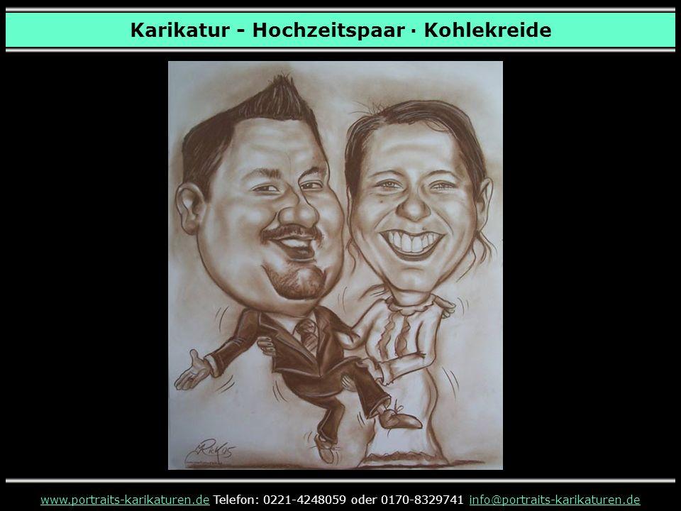 Karikatur - Hochzeitspaar · Kohlekreide www.portraits-karikaturen.dewww.portraits-karikaturen.de Telefon: 0221-4248059 oder 0170-8329741 info@portrait
