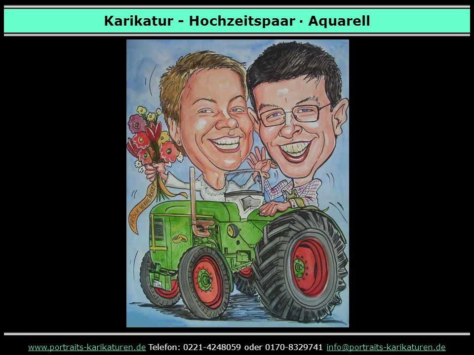 Karikatur - Hochzeitspaar · Aquarell www.portraits-karikaturen.dewww.portraits-karikaturen.de Telefon: 0221-4248059 oder 0170-8329741 info@portraits-k