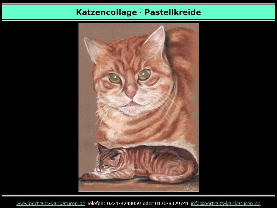 Katzencollage · Pastellkreide www.portraits-karikaturen.dewww.portraits-karikaturen.de Telefon: 0221-4248059 oder 0170-8329741 info@portraits-karikaturen.deinfo@portraits-karikaturen.de