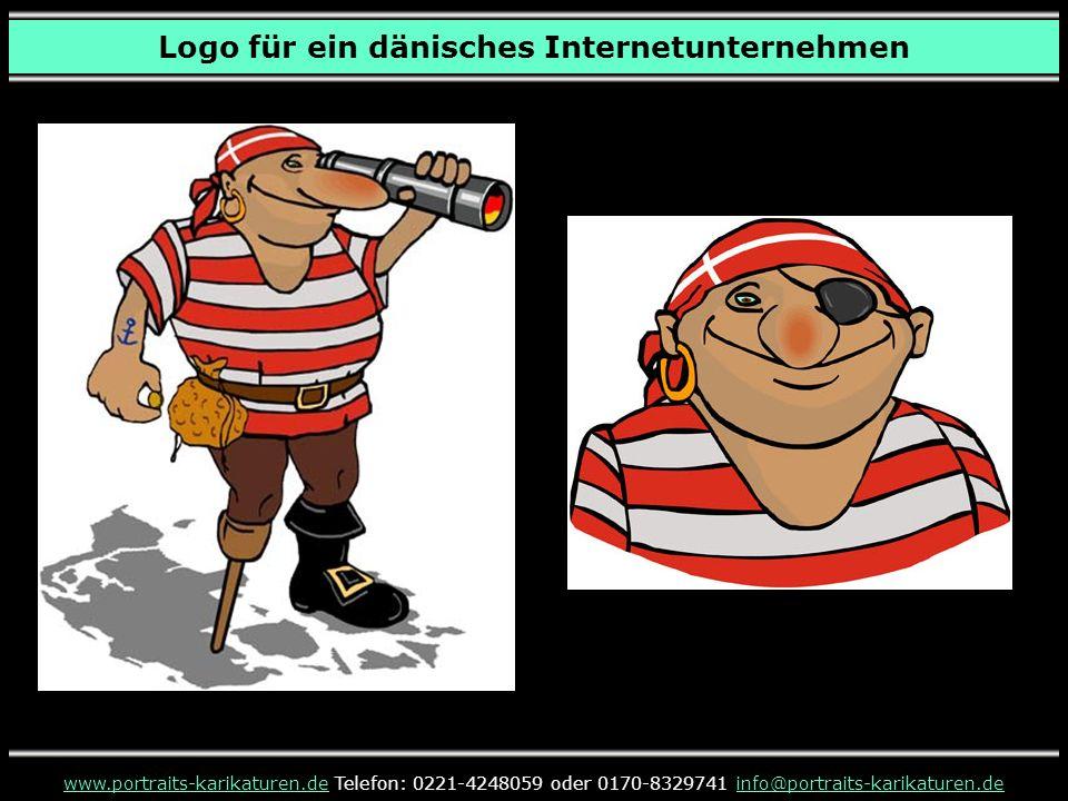 www.portraits-karikaturen.dewww.portraits-karikaturen.de Telefon: 0221-4248059 oder 0170-8329741 info@portraits-karikaturen.deinfo@portraits-karikaturen.de Logo für ein dänisches Internetunternehmen