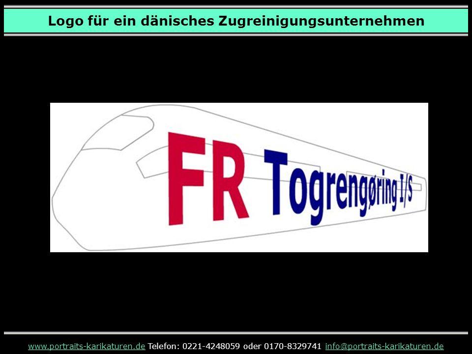www.portraits-karikaturen.dewww.portraits-karikaturen.de Telefon: 0221-4248059 oder 0170-8329741 info@portraits-karikaturen.deinfo@portraits-karikaturen.de Logo für ein dänisches Zugreinigungsunternehmen