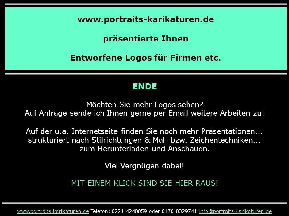 www.portraits-karikaturen.de präsentierte Ihnen Entworfene Logos für Firmen etc.