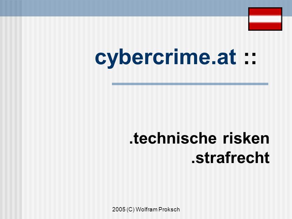 2005 (C) Wolfram Proksch cybercrime.at ::.technische risken.strafrecht