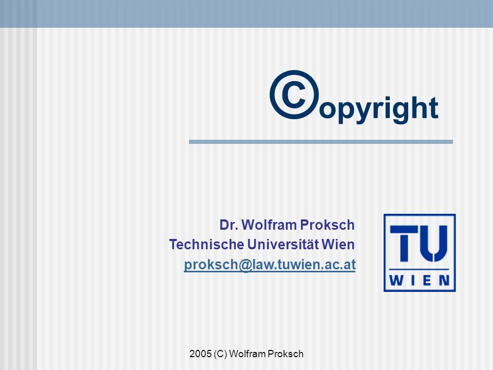 2005 (C) Wolfram Proksch © opyright Dr.